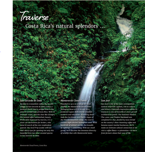Costa Rica Product Highlight Coverpage